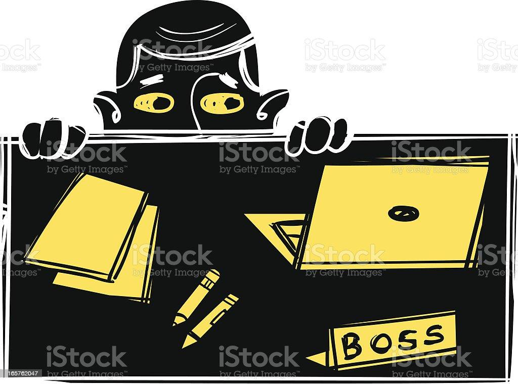 Worried Boss royalty-free stock vector art