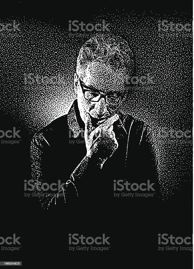 Worried Man royalty-free stock vector art