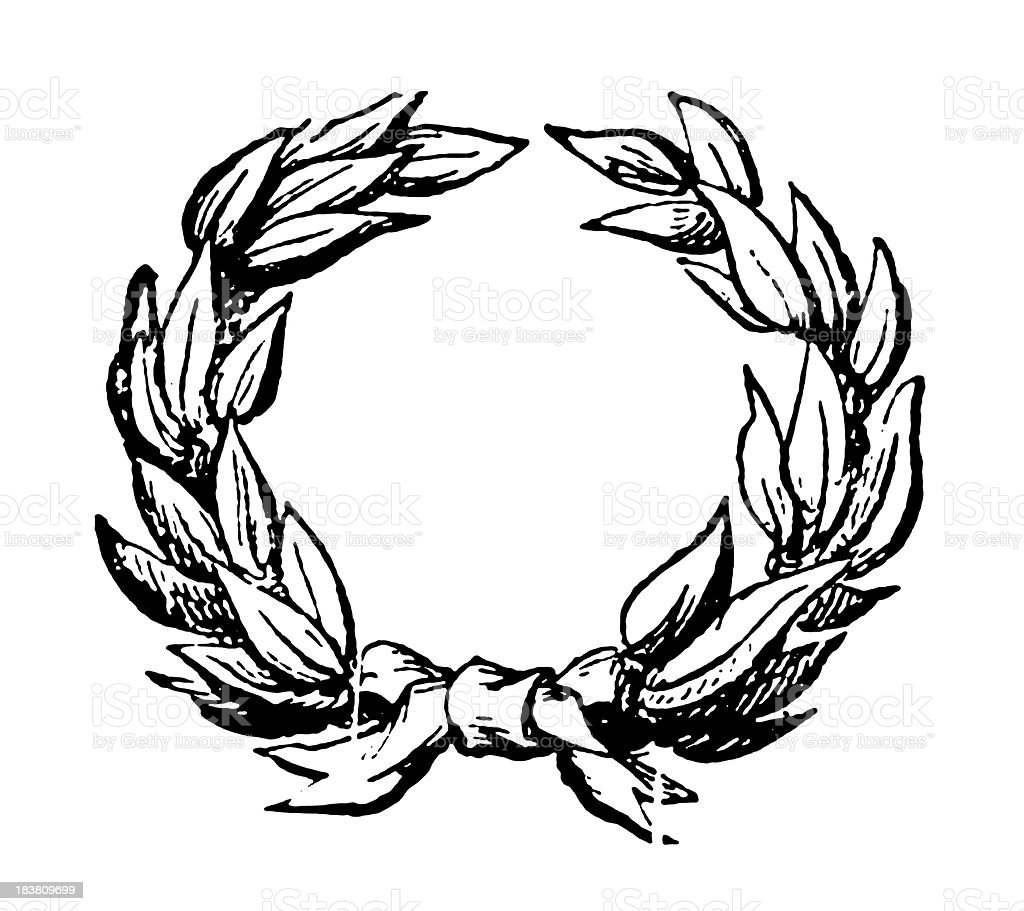 Wreath | Antique Flower Illustrations royalty-free stock vector art