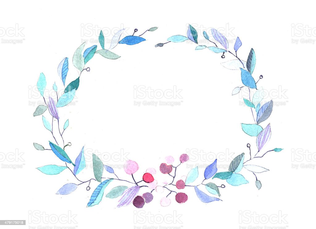 Wreath of leaves. royalty-free stock vector art