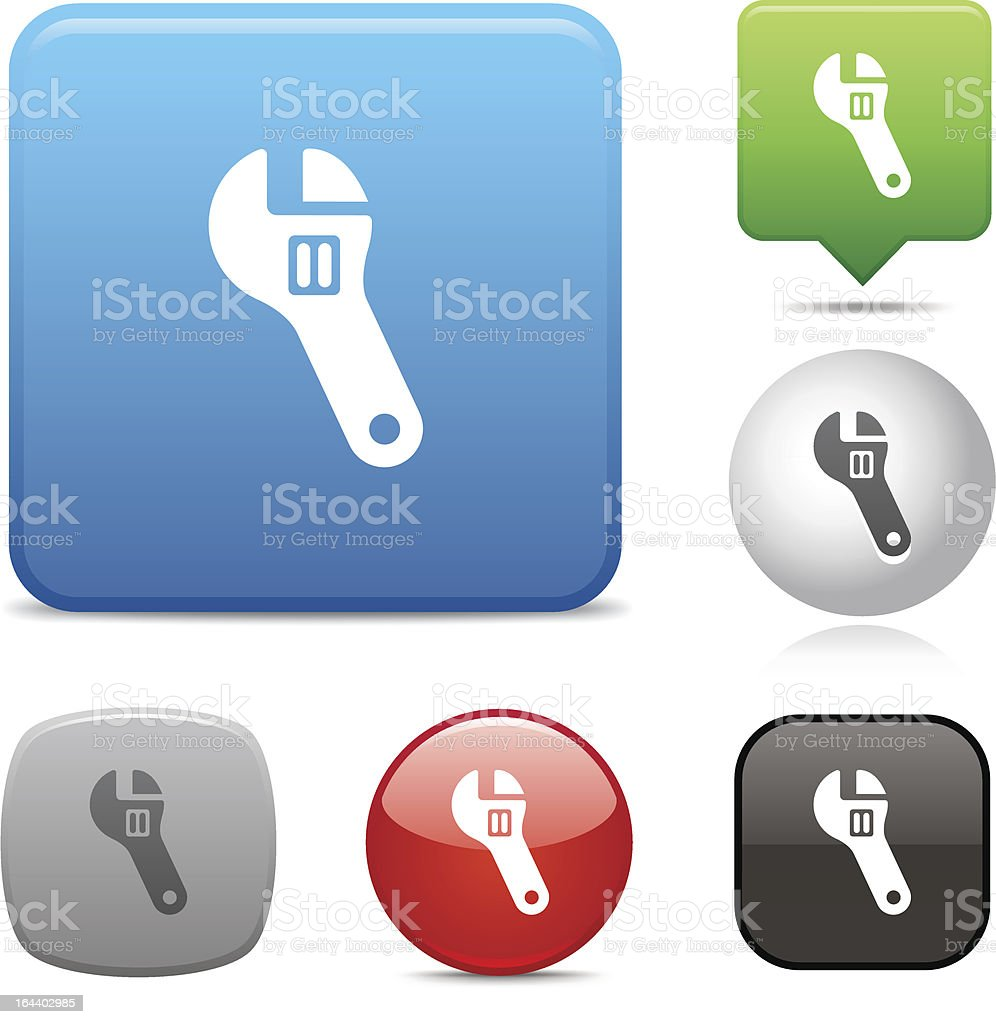 Wrench icon royalty-free stock vector art