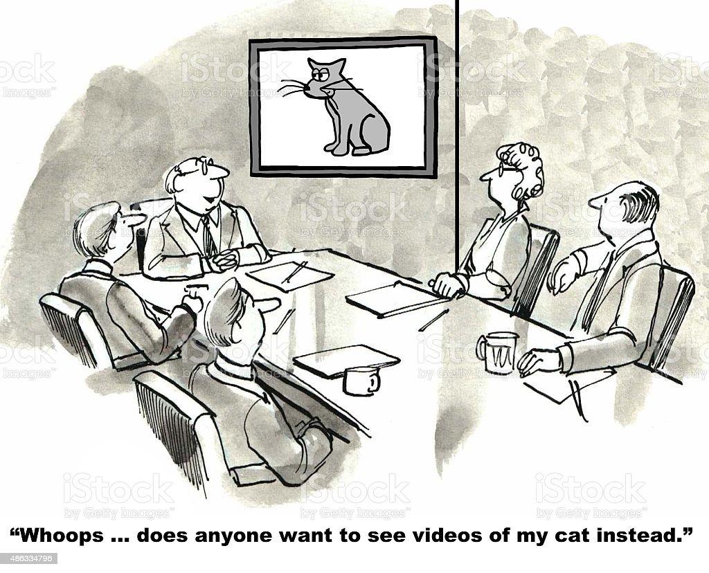 Wrong Business Video vector art illustration