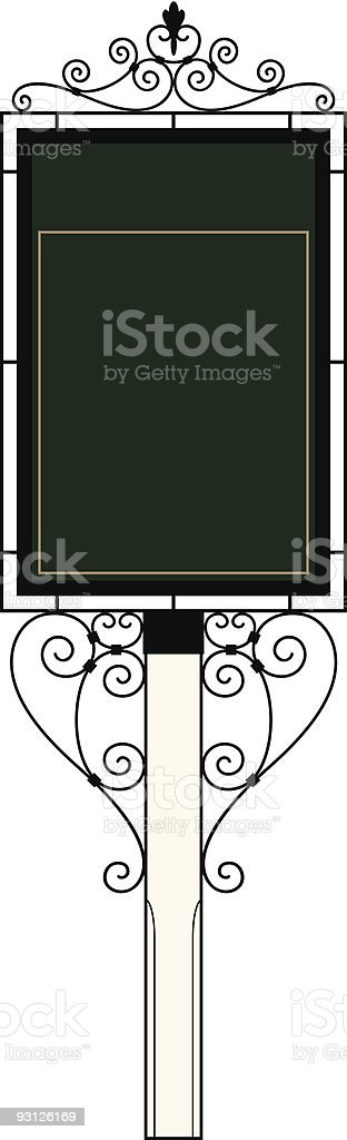 Wrought Iron Sign Frame royalty-free stock vector art
