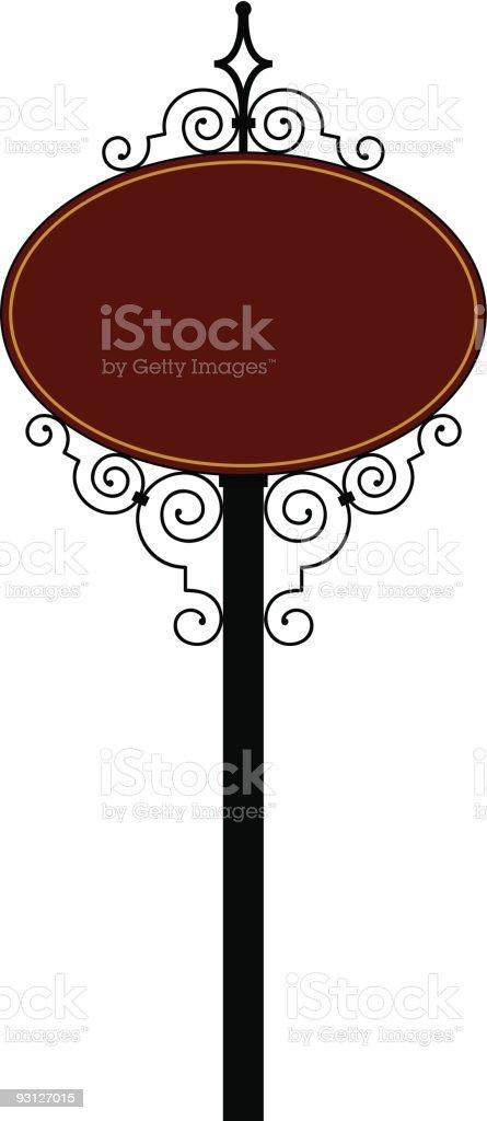 wrought iron-11-10-04 royalty-free stock vector art