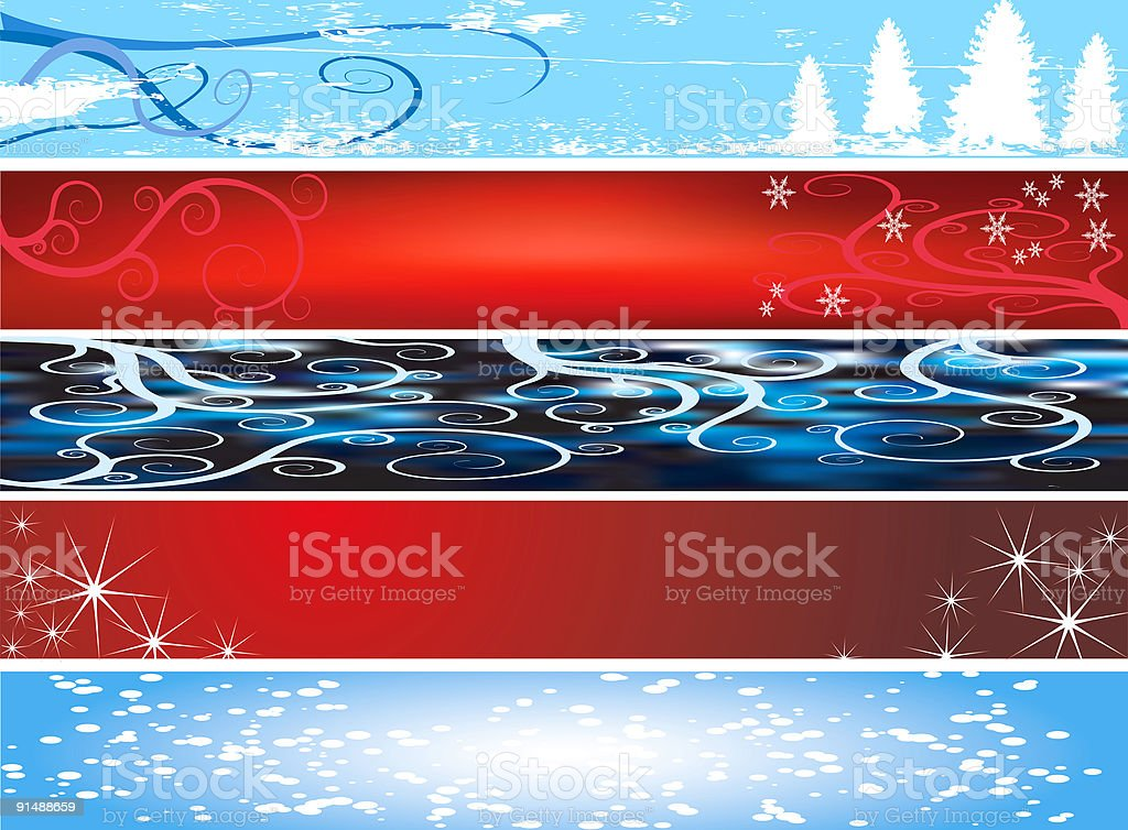 Xmas website banners royalty-free stock vector art