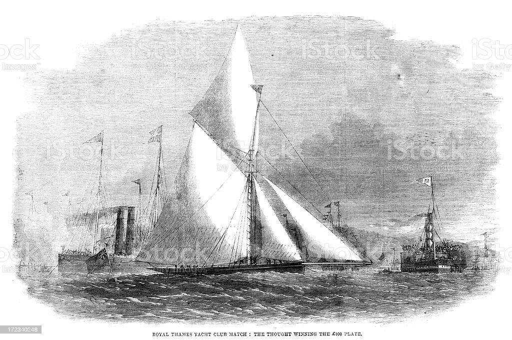 Yacht Race royalty-free stock vector art