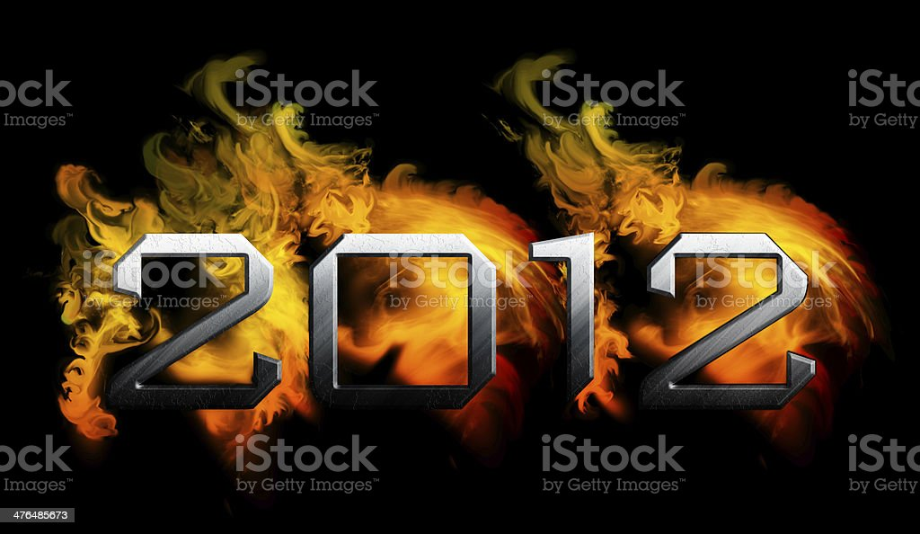 2012 year of the apocalypse royalty-free stock vector art