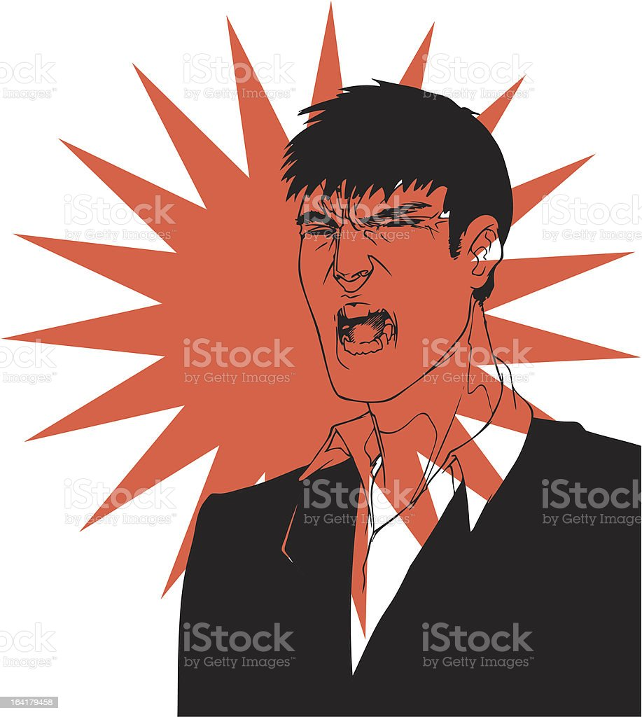 yelling man royalty-free stock vector art