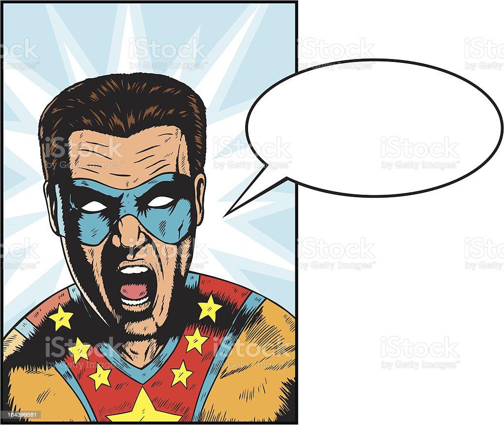Yelling Superhero royalty-free stock vector art