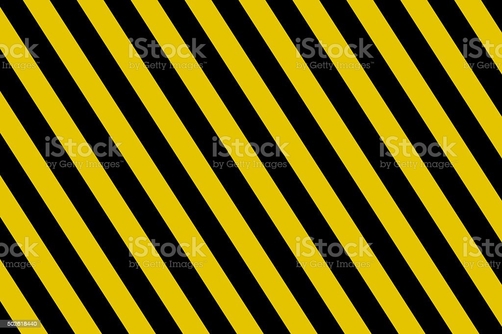 Yellow and Black Stripes background vector art illustration