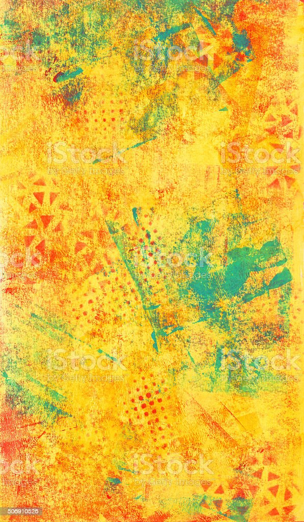 Yellow and Blue Abstract Texture vector art illustration