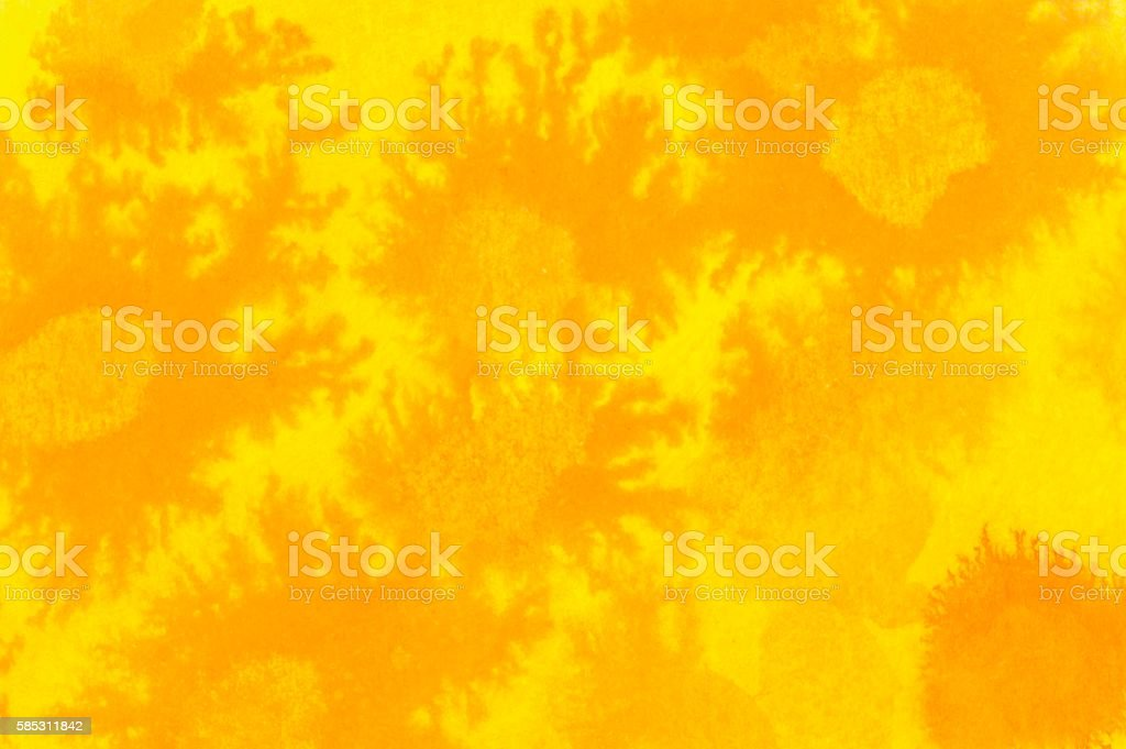 Yellow and orange, ink and pastel background. vector art illustration