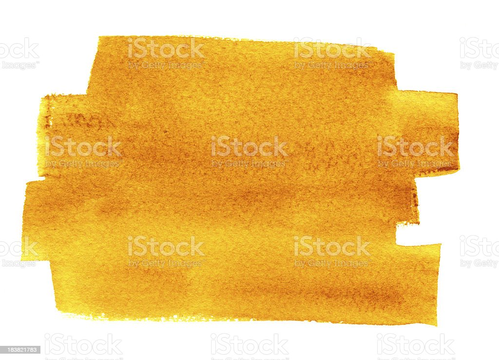 Yellow and Rust Watercolor Background royalty-free stock vector art