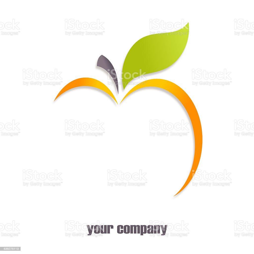 Yellow apple logo vector art illustration