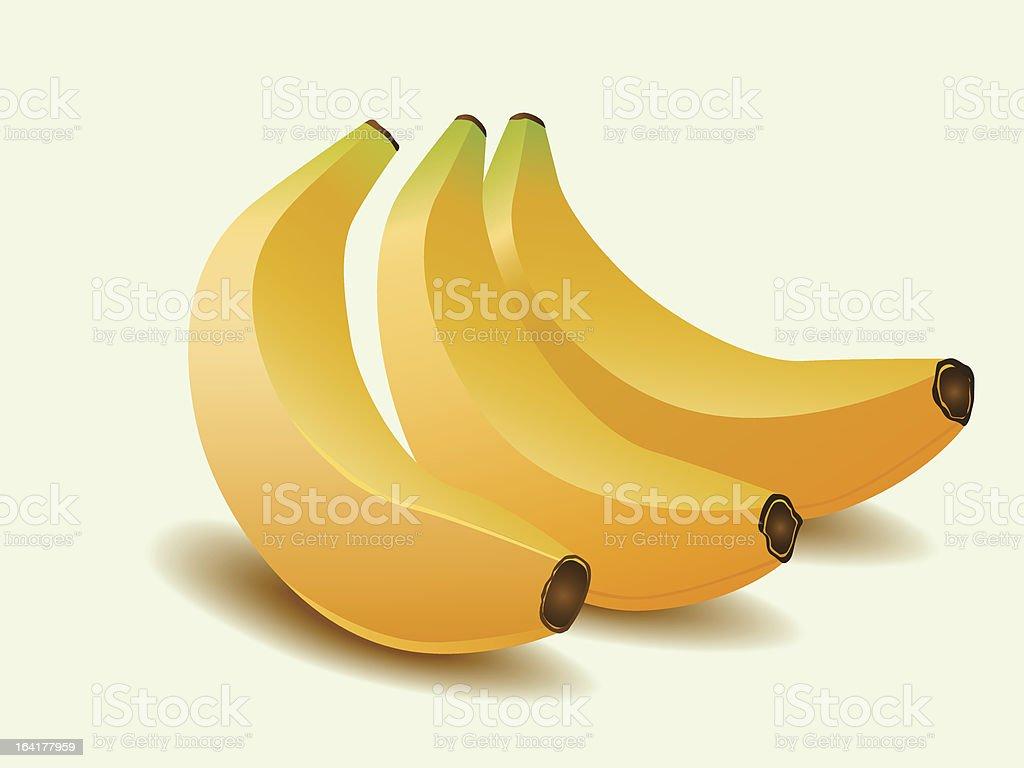Yellow banana royalty-free stock vector art