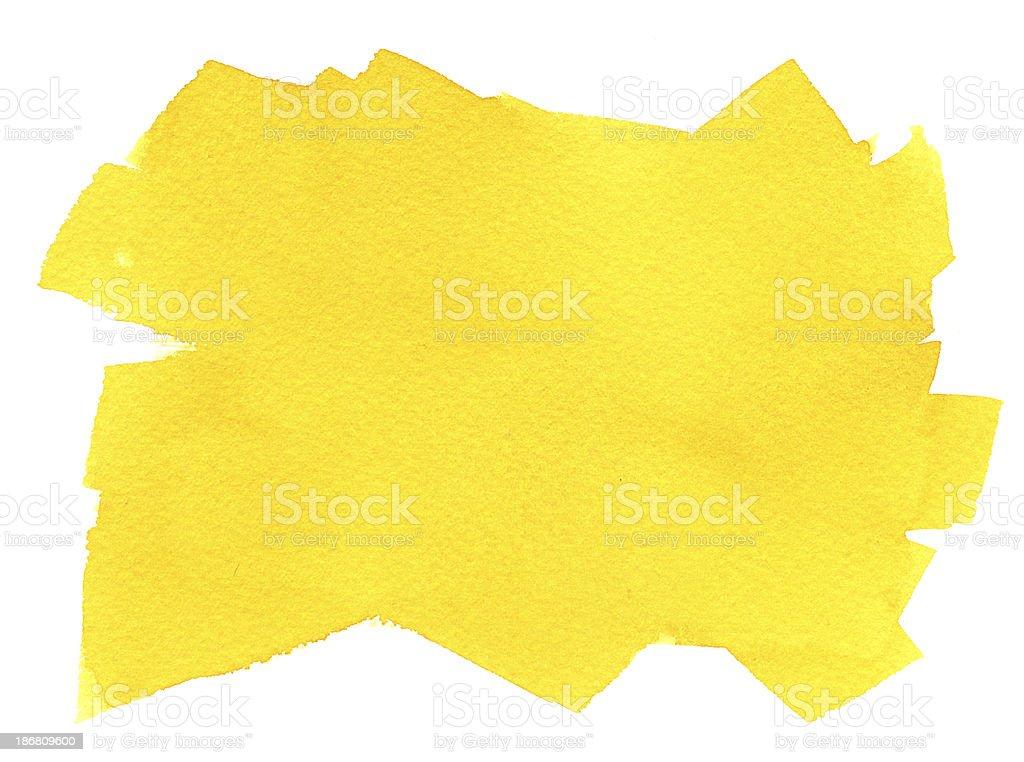 Yellow Brush Stroke Background royalty-free stock vector art