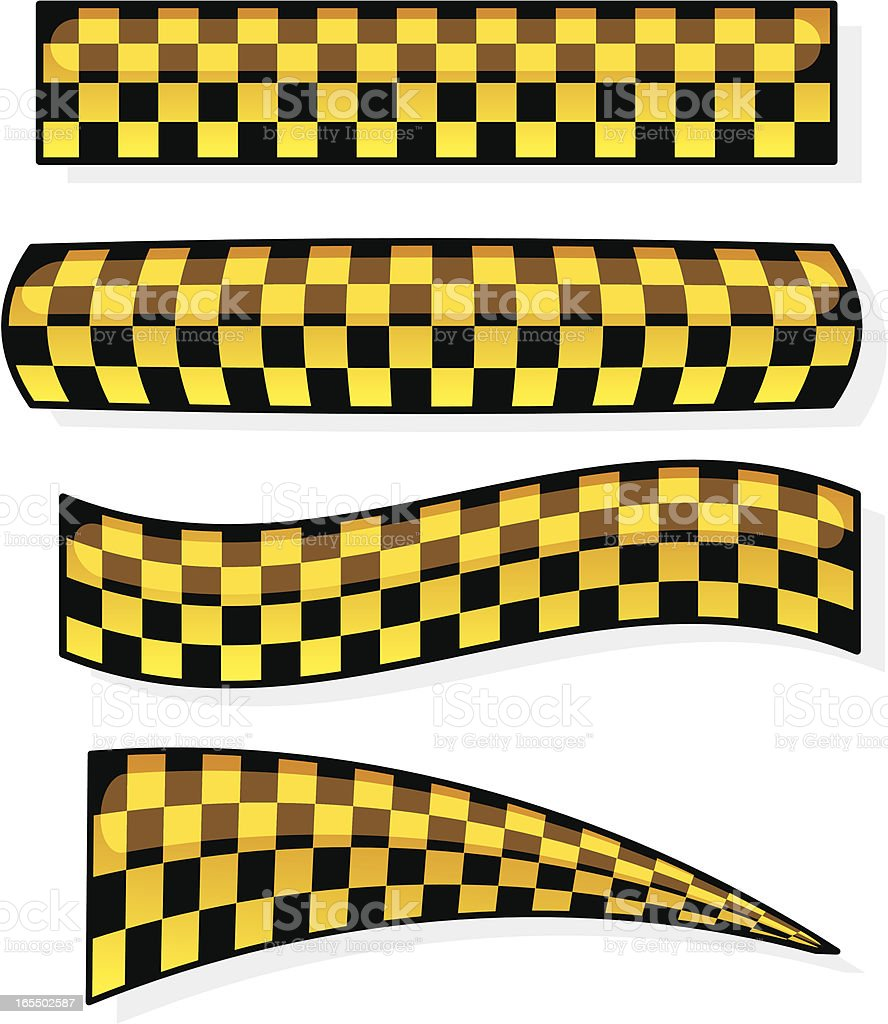 yellow checkers royalty-free stock vector art