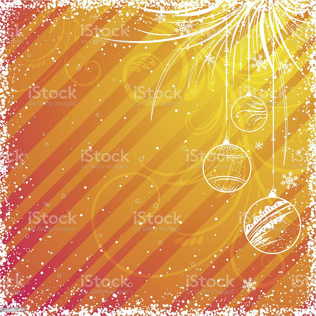 yellow christmas background royalty-free stock vector art