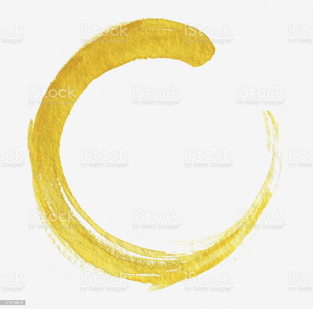 Yellow Circle (Clipping Path) vector art illustration
