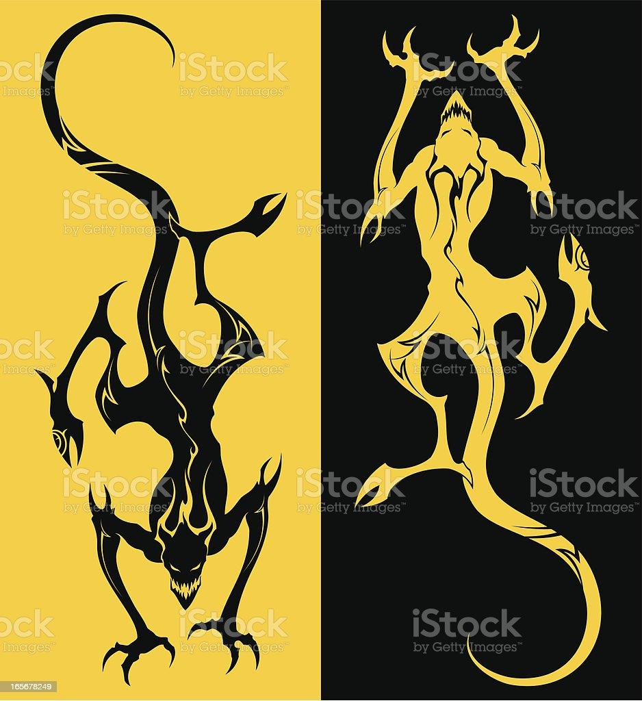 Yellow devil royalty-free stock vector art