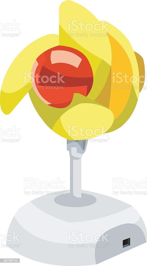 yellow fan royalty-free stock vector art