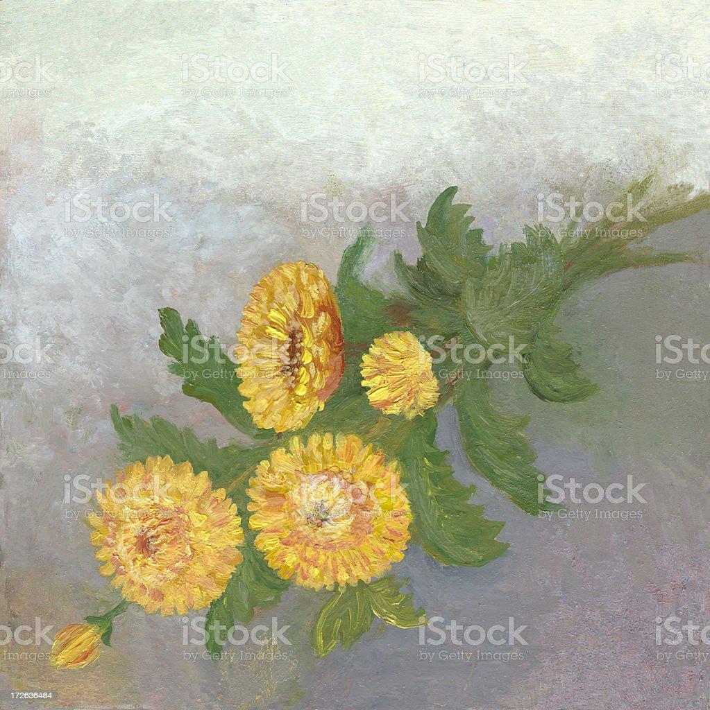 Gelbe Blumen-arrangement Lizenzfreies vektor illustration