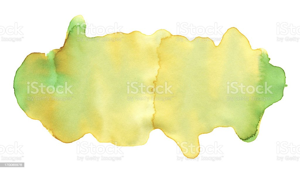 Yellow Green Watercolor Paint Texture royalty-free stock vector art