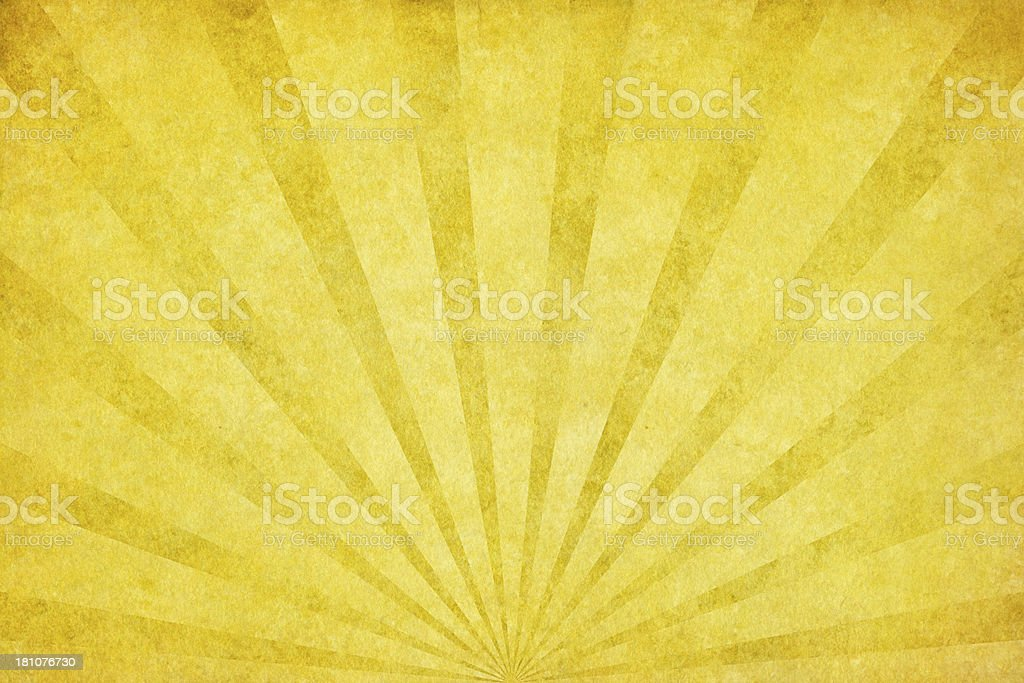 yellow grunge texture with sunrays vector art illustration
