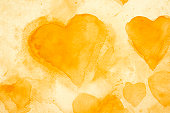 Yellow Hearts background