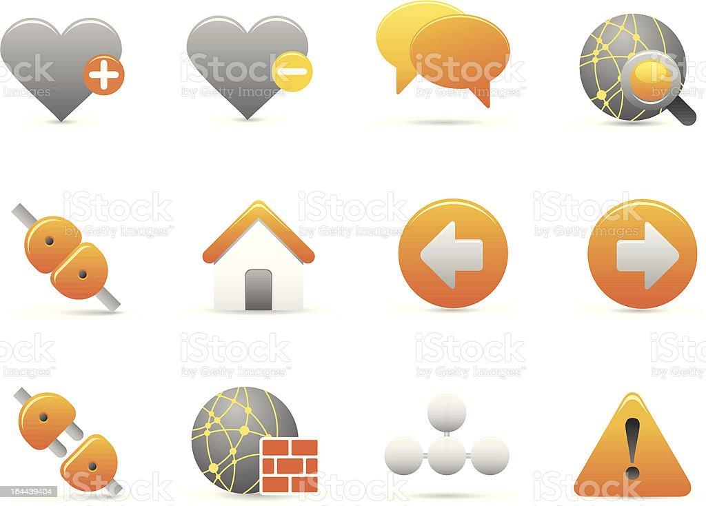 Żółty Internet ikony stockowa ilustracja wektorowa royalty-free