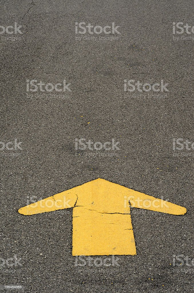 Yellow line arrow vector art illustration