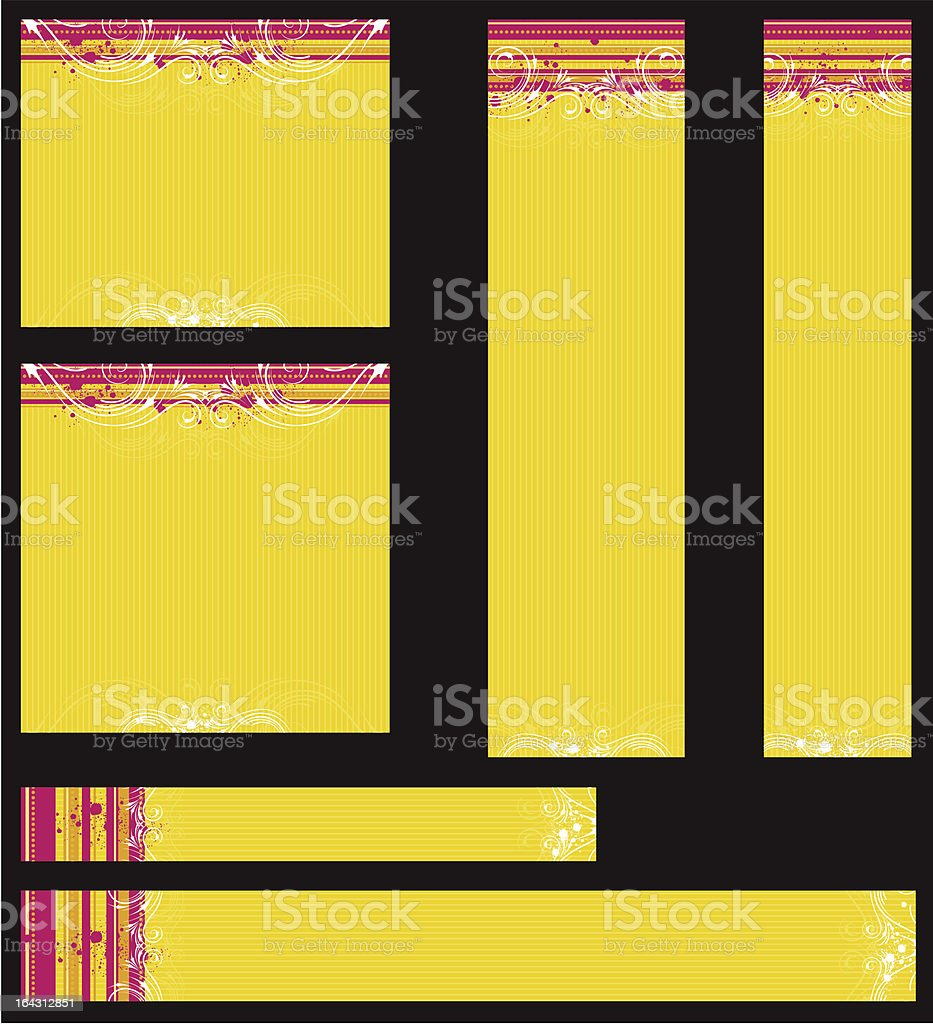 yellow modern  banners royalty-free stock vector art
