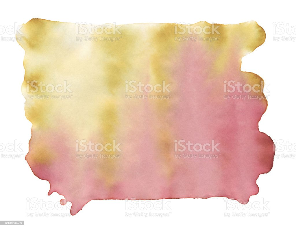 Yellow Pink Square Watercolor Paint Stock Texture royalty-free stock vector art