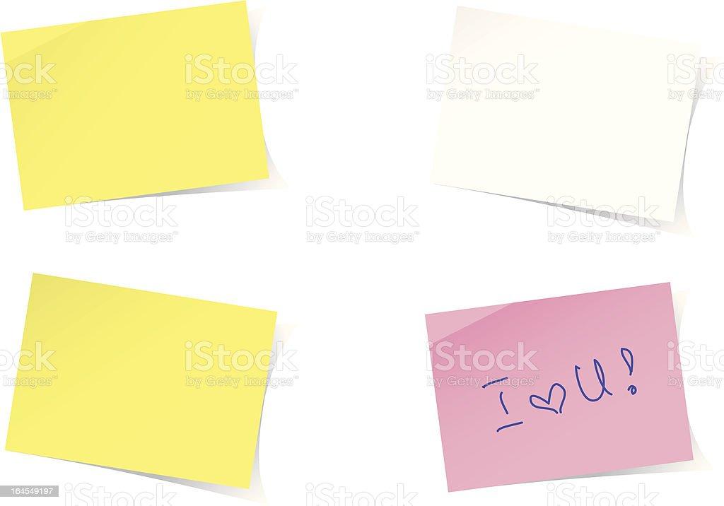 Yellow post-it note vector art illustration