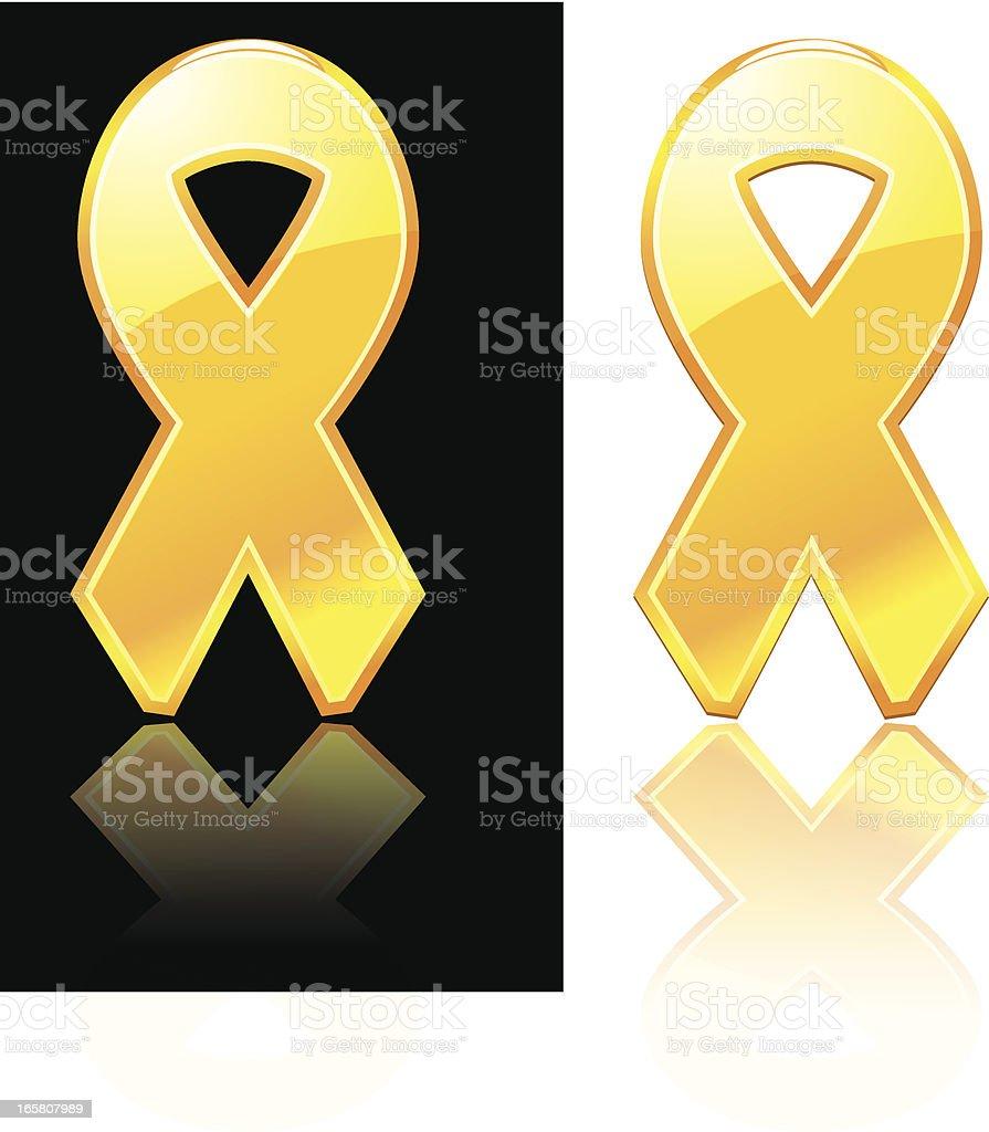 Yellow Ribbon Icons vector art illustration