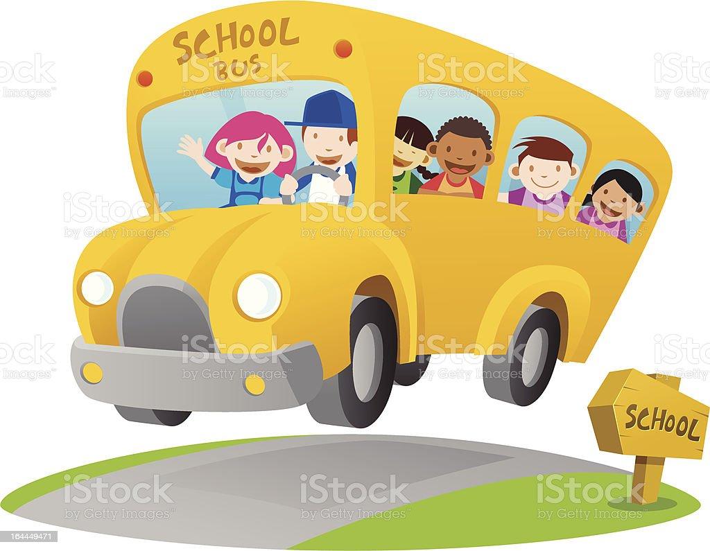 Yellow School Bus royalty-free stock vector art