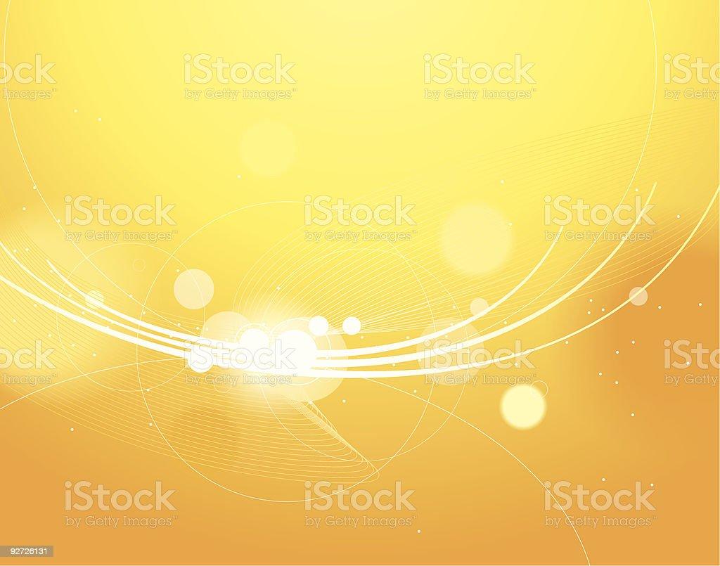 Yellow shine vector art illustration
