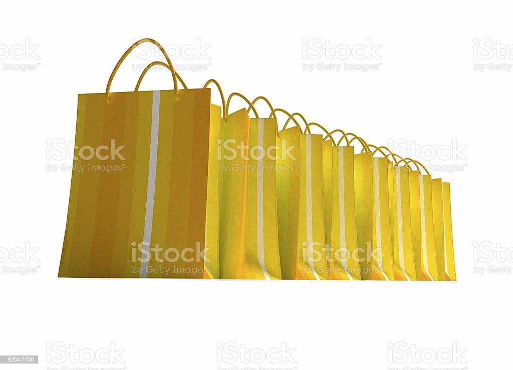 Yellow shopping spree vector art illustration