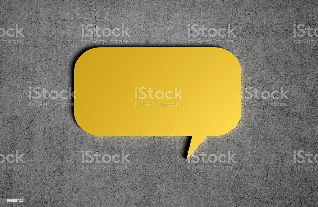 yellow speech bubble vector art illustration