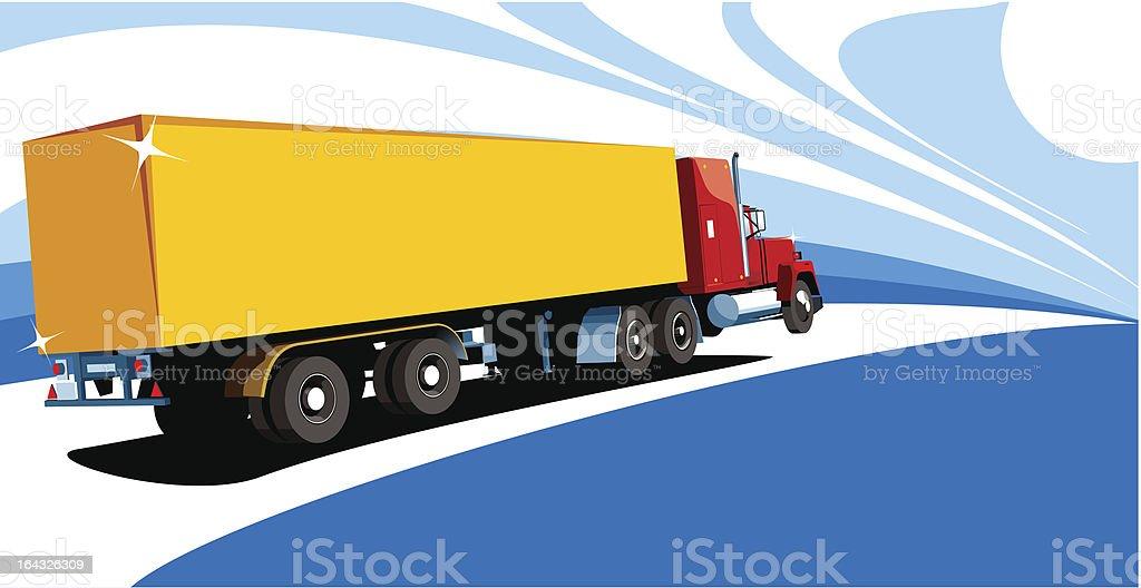 Yellow truck royalty-free stock vector art