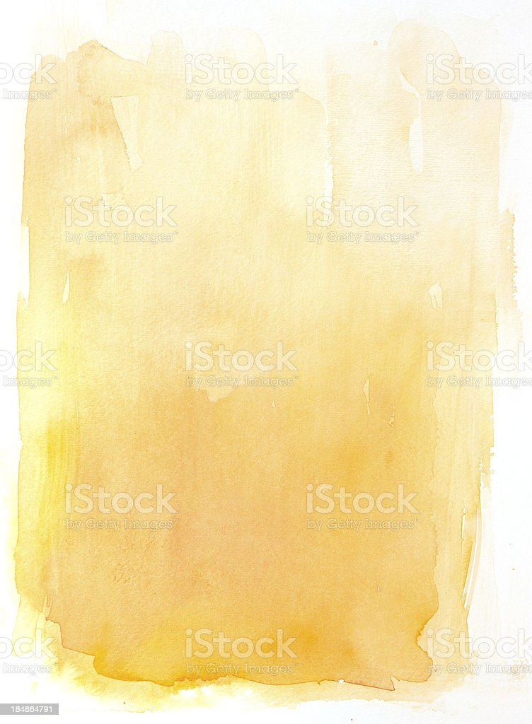 yellow watercolor background vector art illustration