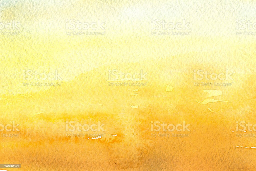 yellow watercolor background vector art illustration