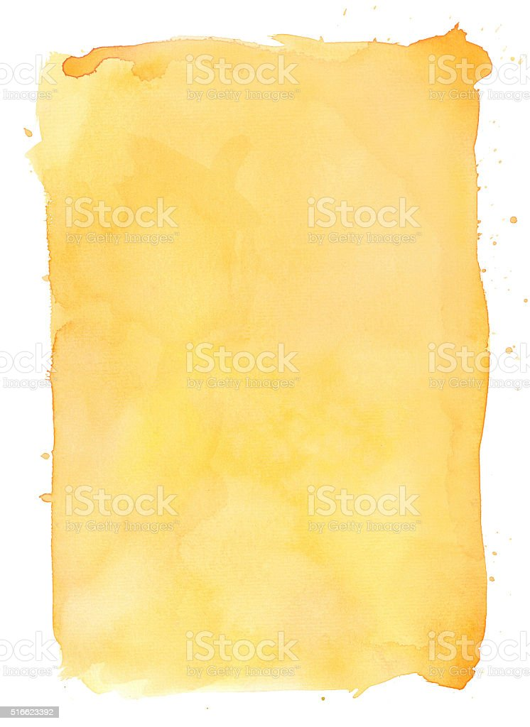 Yellow watercolour background vector art illustration