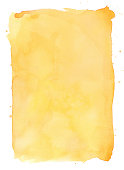 Yellow watercolour background