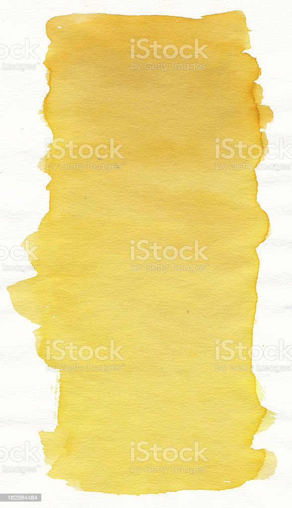Yellow watercolour royalty-free stock vector art