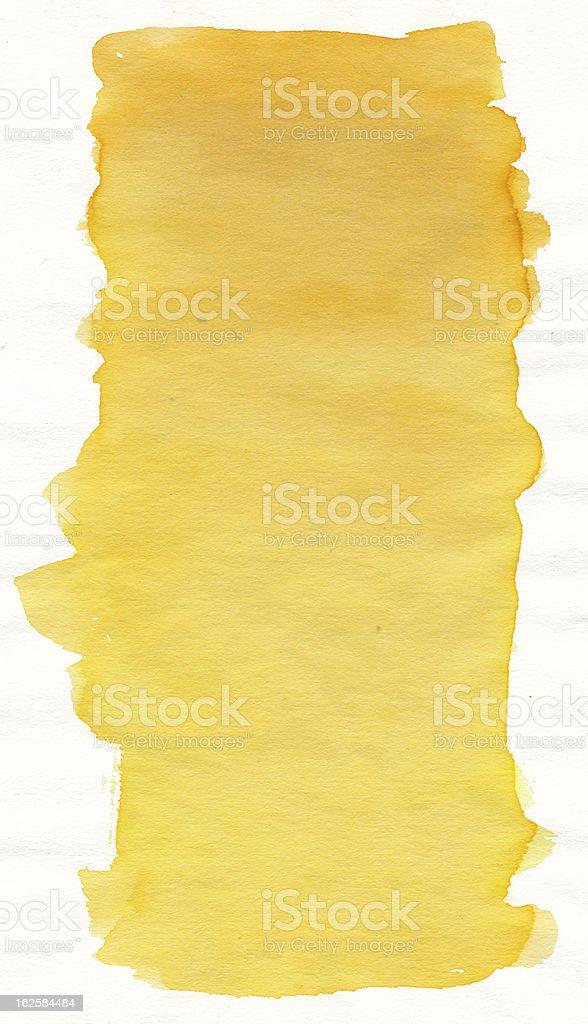 Yellow watercolour vector art illustration