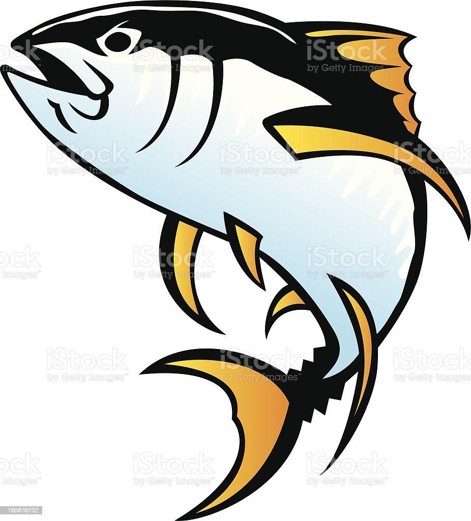 yellowfin tuna royalty-free stock vector art
