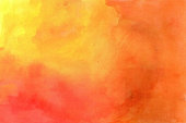 Yellow-red grunge in watercolor.