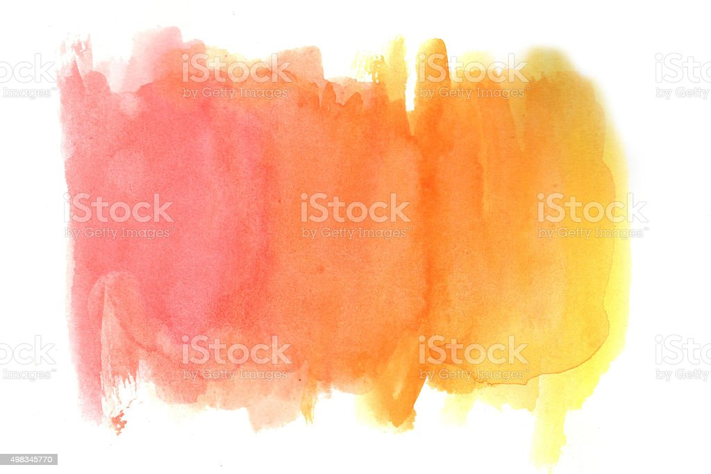 Yellow-red grunge in watercolor vector art illustration