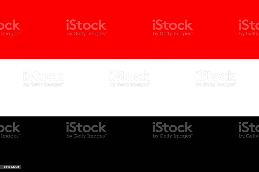 Yemen national flag 3D illustration symbol vector art illustration